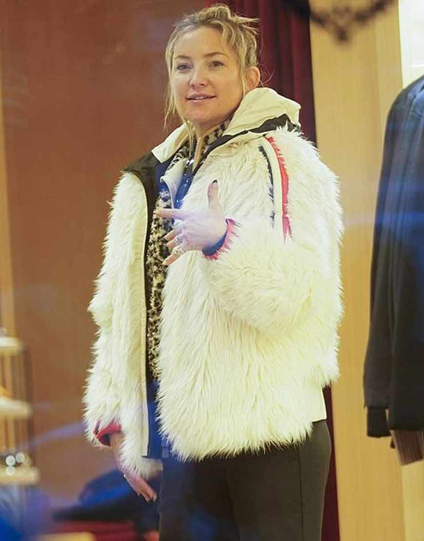 Kate-Hudson-Fur-Jacket-With-Red-and-Blue-Stripes