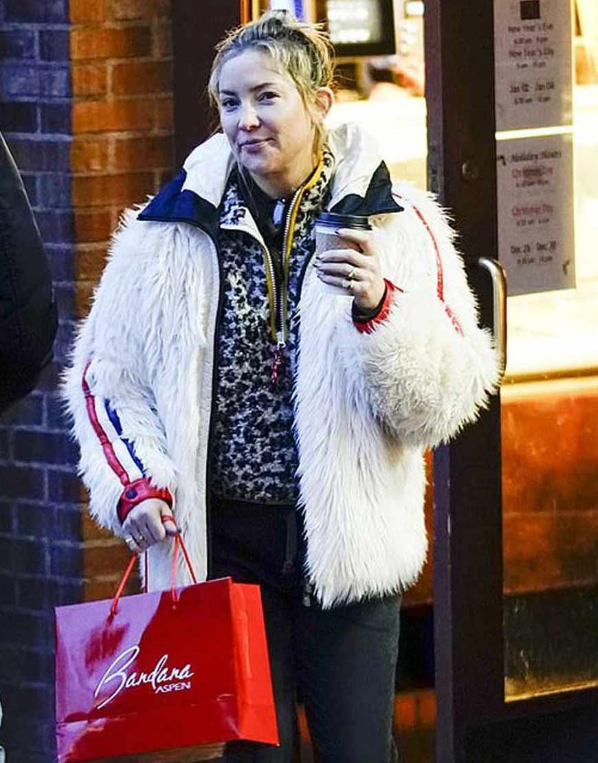 Kate-Hudson-White-Fur-Hooded-Jacket