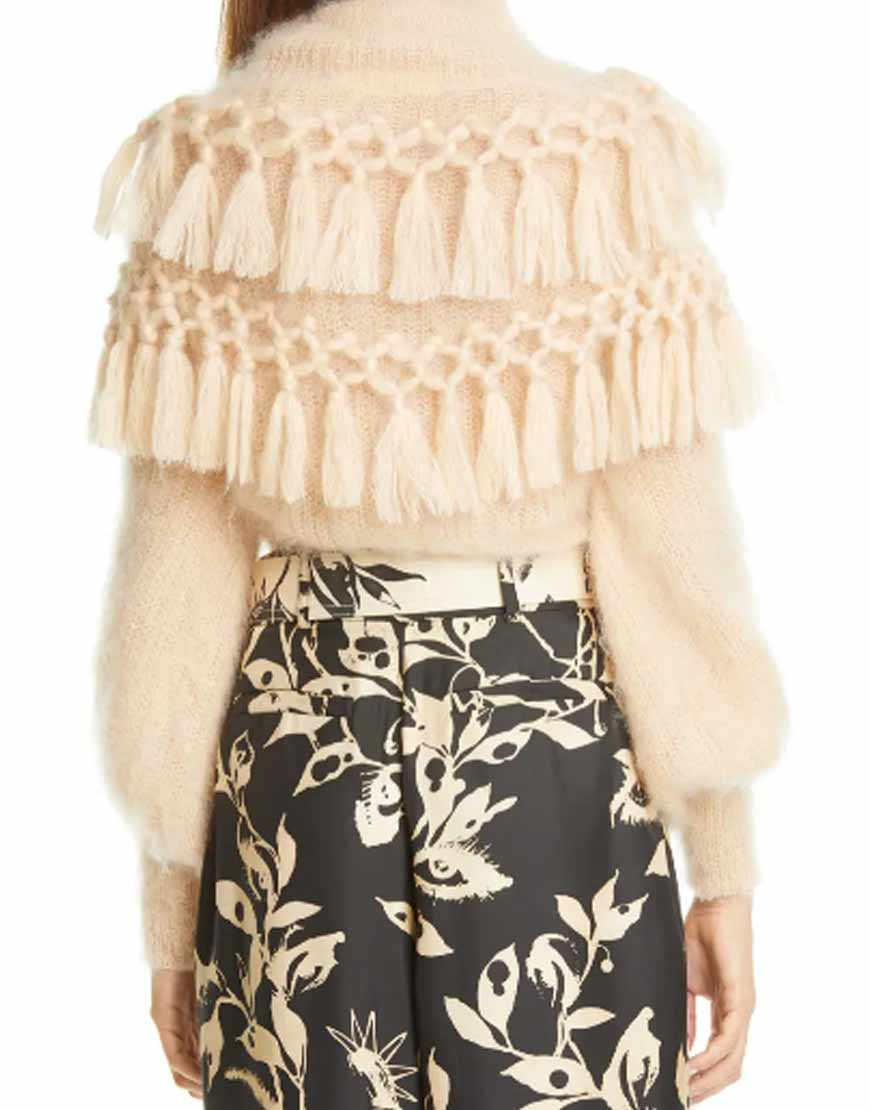 Ladybeetle-Tassel-Mohair-&-Silk-Peach-Sweater