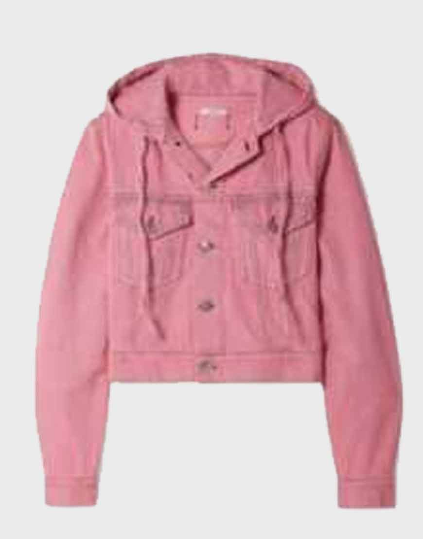 Lily-Collins-Emily-In-Paris-Pink-Cotton-Jacket
