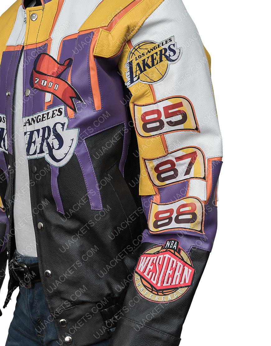 Los Angeles Lakers Hamilton 2000 Championship Leather Jacket