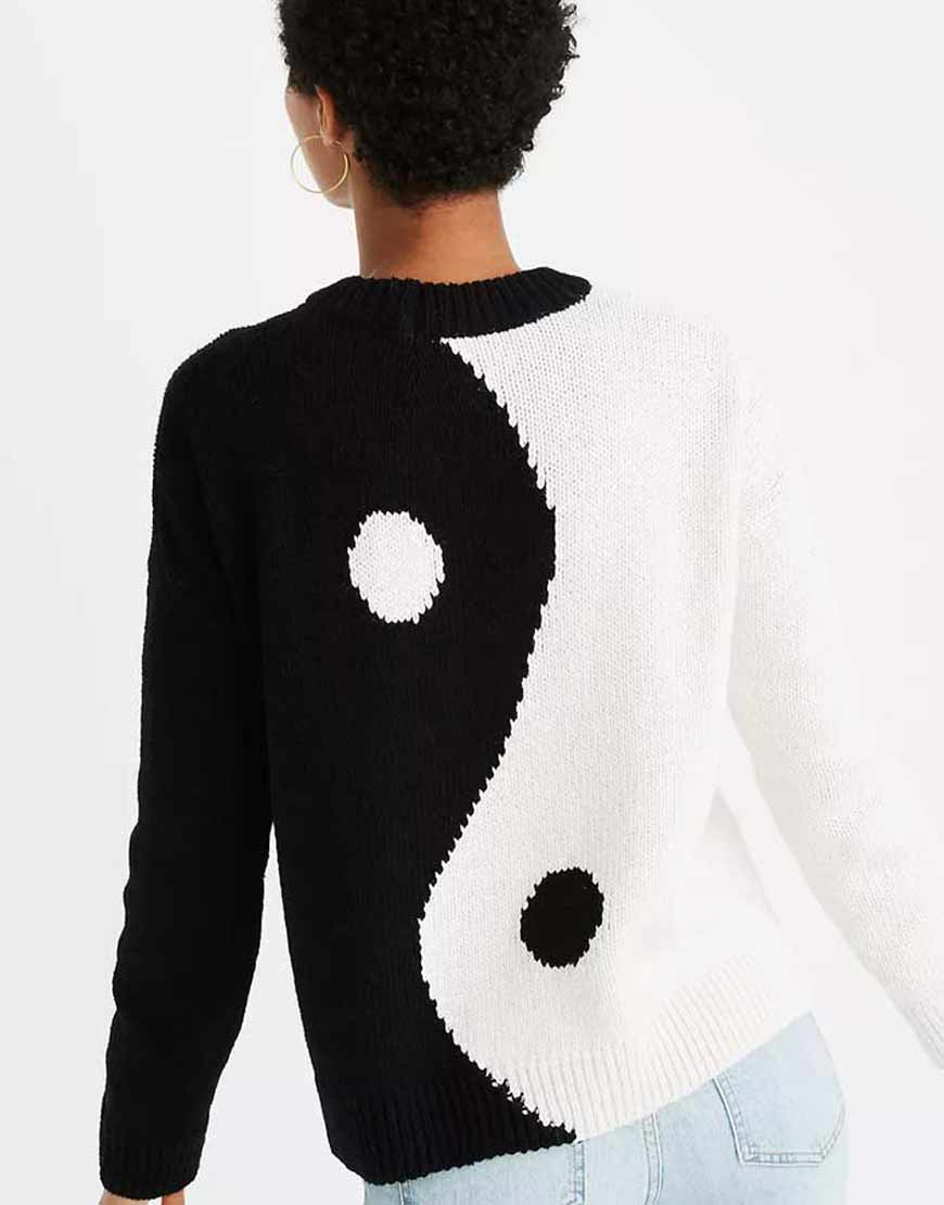 Madewell-Yin-Yang-Black-and-White-Sweater