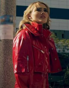 Meg-Donnelly-Red-Leather-Jacket