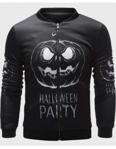Mens-Black-Bomber-Halloween-Jacket