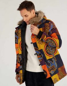Mens-Ethnic-Printed-Hooded-Coat