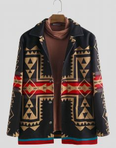 Men's-Ethnic-Style-Printed-Casual-Coat