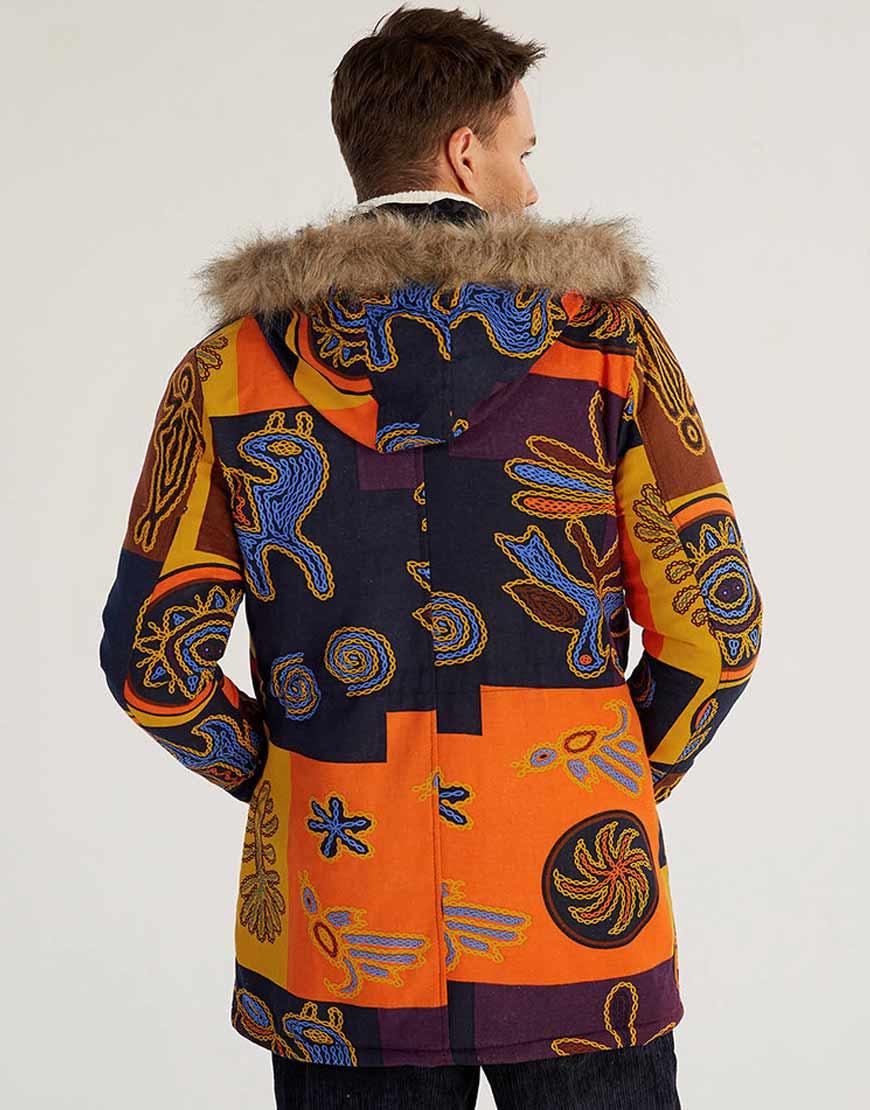 Mens-EtMens-Ethnic-Printed-Hooded-Coathnic-Style-Printed-Coat