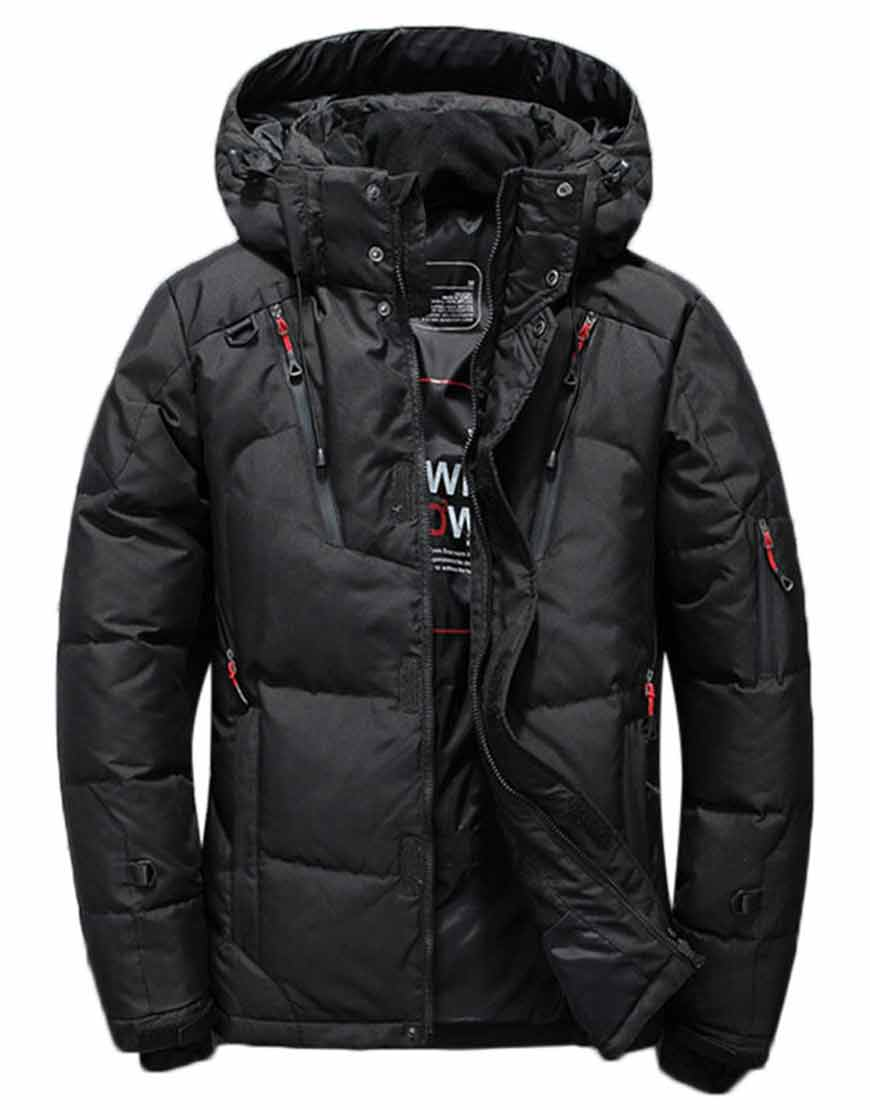 Men's-Parka-Quilted-Insulated-Black-Jacket