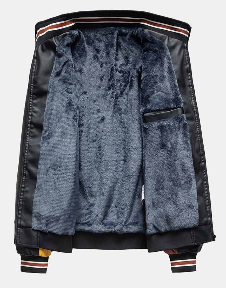 Mens-Patchwork-PU-Leather-Jackets