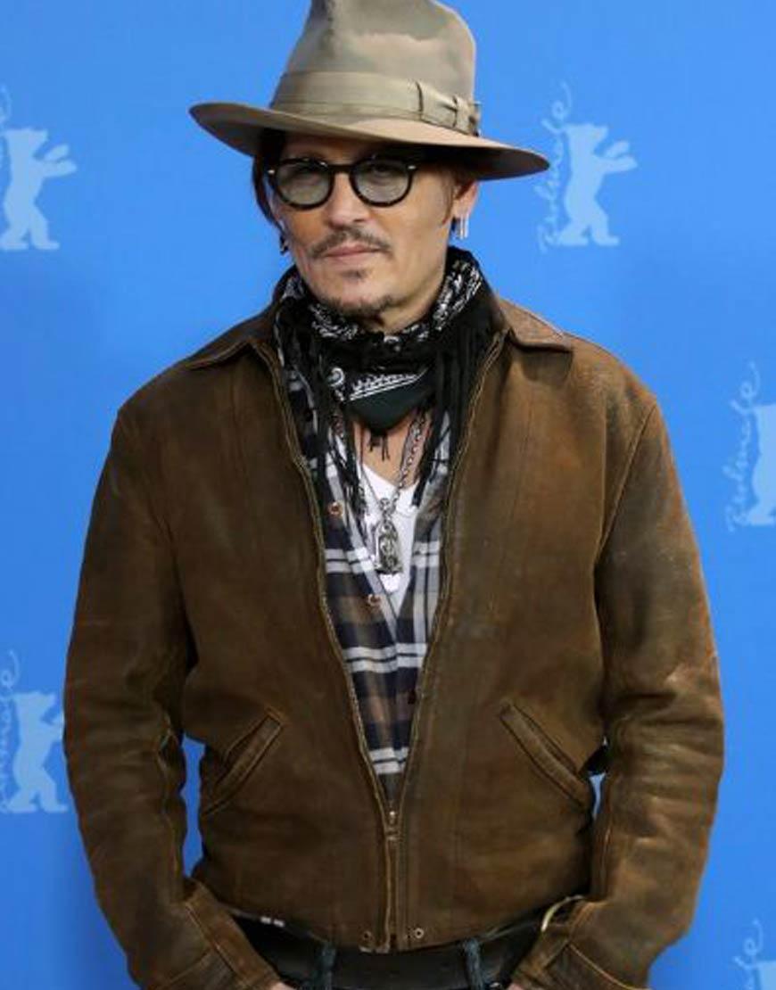Minamata-Johnny-Depp-Berlin-Film-Fest-Brown-Jacket