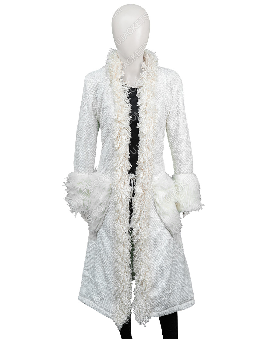 Mindy Chen Emily In Paris Ashley Park White Fur Coat