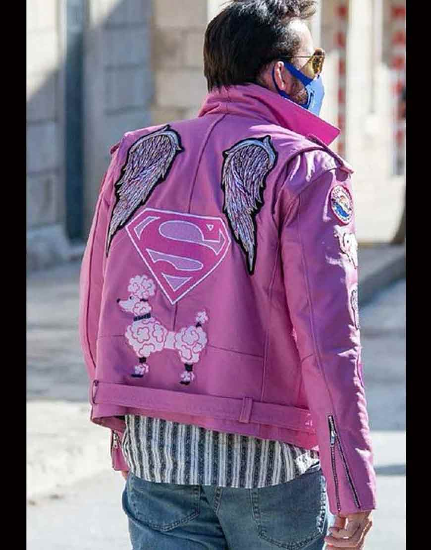 Nicholas-Cage-Pink-Leather-Jacket