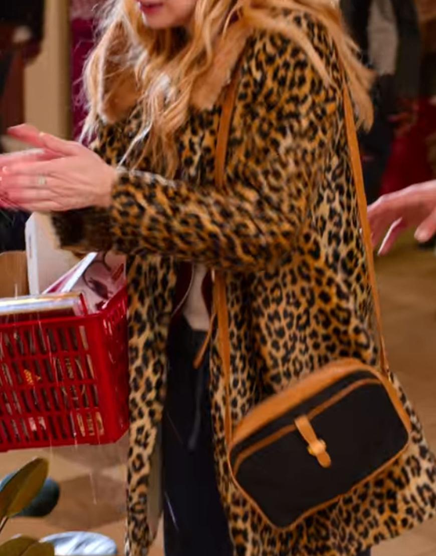 Sloane Holidate 2020 Emma Roberts Printed Fur Coat