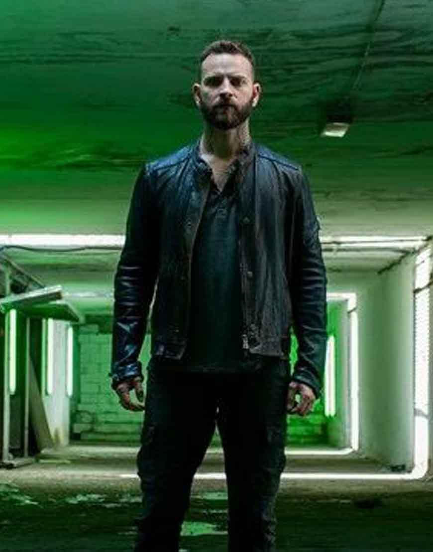 Suburra-S03-Aureliano-Adami-Black-Leather-Jacket