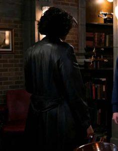 Supernatural-S15-Lisa-Berry-Black-Leather-Coat