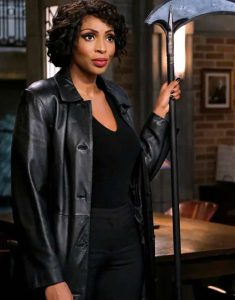 Supernatural-S15-Lisa-Berry-Leather-Coat