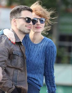 The-355-Jessica-Chastain-Blue-Sweater