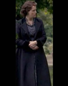 The-Crown-Claire-Foy-Black-Long-Coat