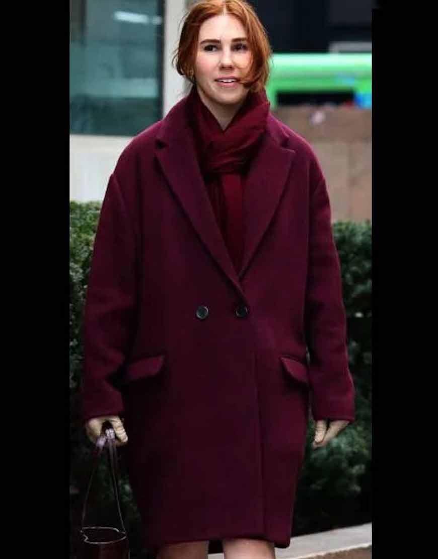 The-Flight-Attendant-Annie-Purple-Coat