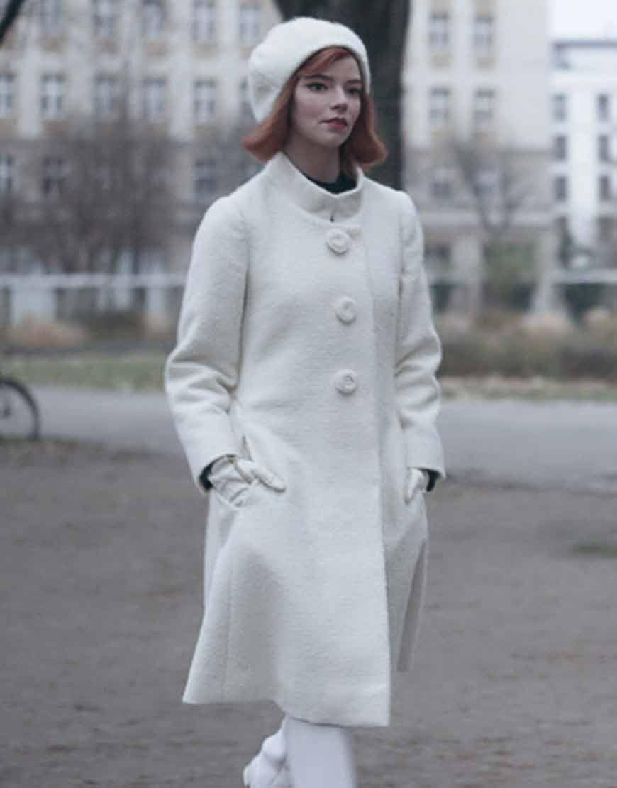 The-Queen's-Gambit-Anya-Taylor-Joy-White-Coat