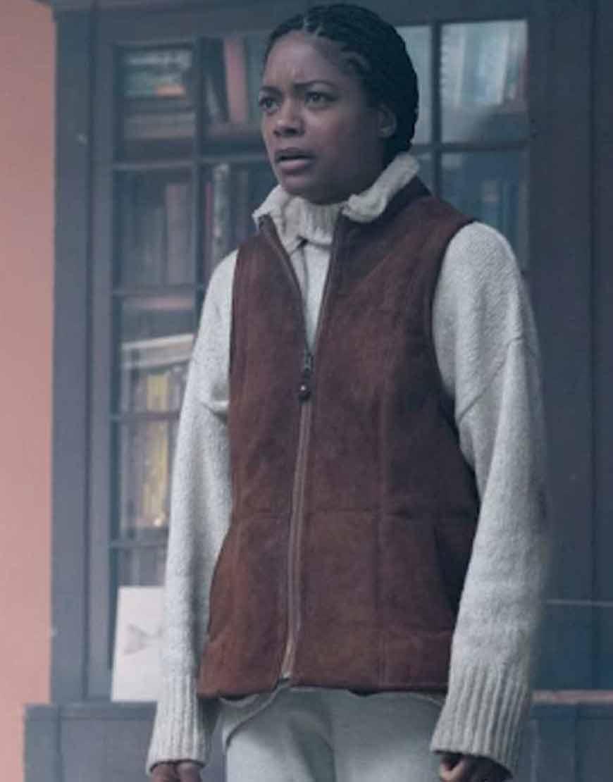 The-Third-Day-Helen-Naomie-Harris-Brown-Leather-Vest