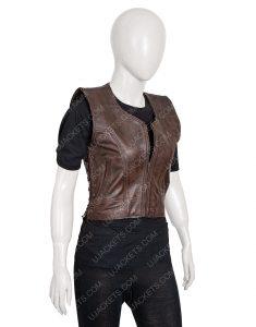 The Walking Dead Danai Gurira Michonne Brown Vest