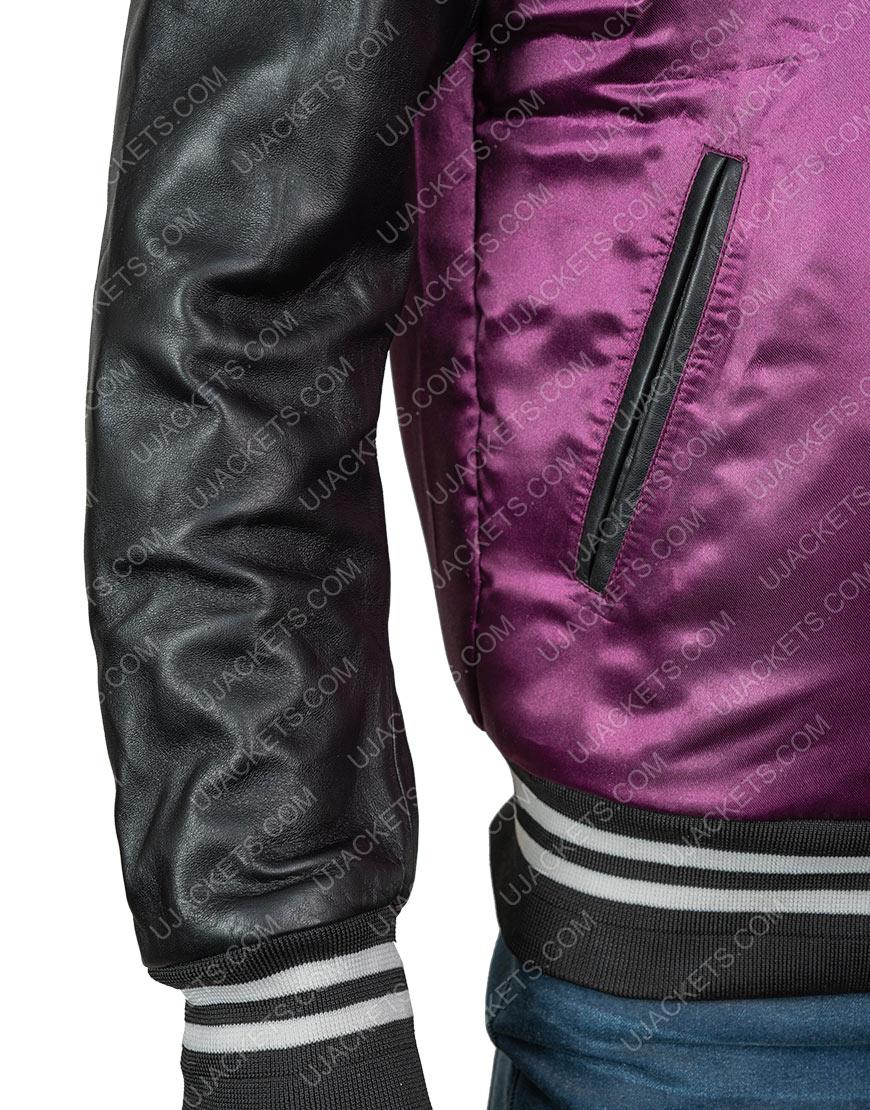 The Weeknd H&M Purple Satin Jacket