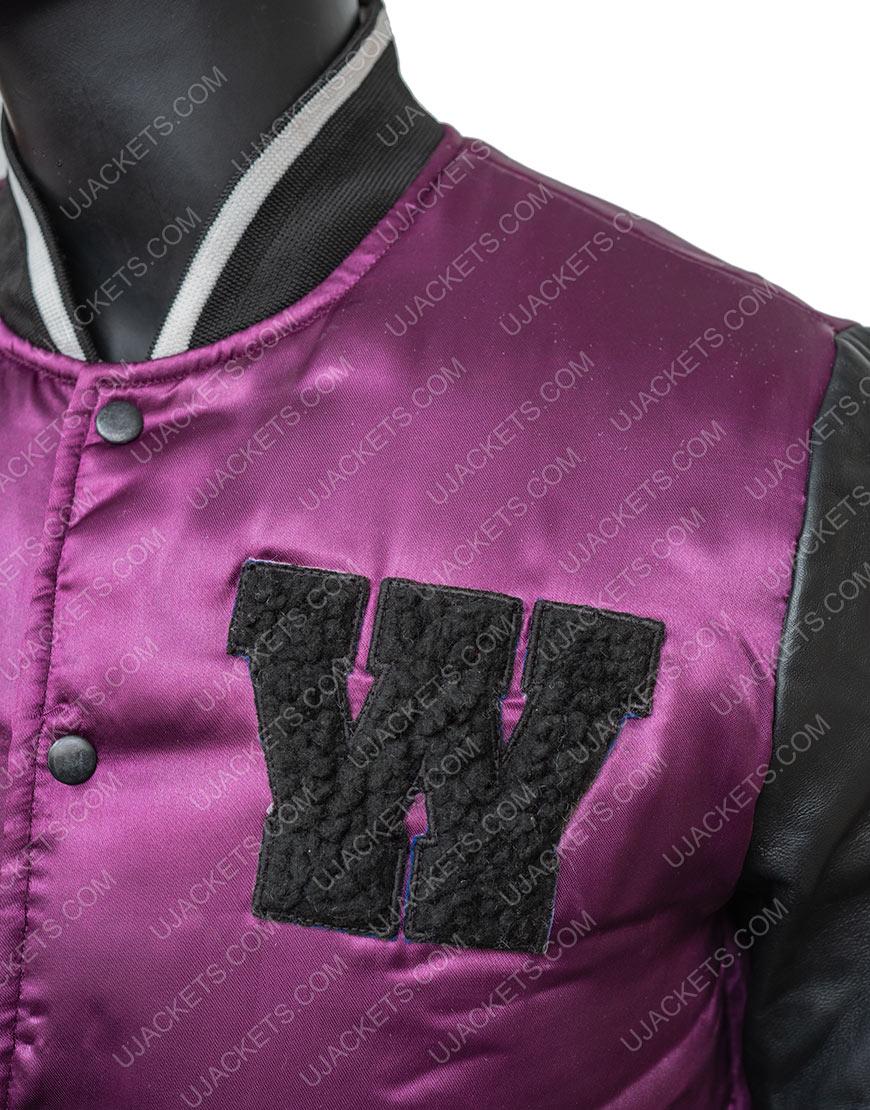 The Weeknd H&M Satin Varsity Jacket