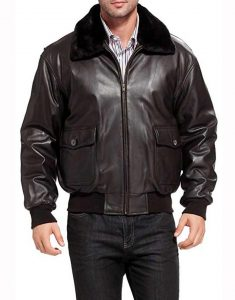 U.s-Navy-G-1-Aviator-Black-Leather-Jacket