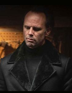 Walton-Goggins-Fatman-Skinny-Man-Black-Shearling-Collar-Coat
