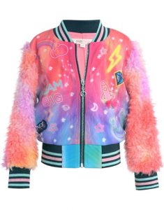 Women-Cosmic-Theme-Rainbow-Bomber-Jacket