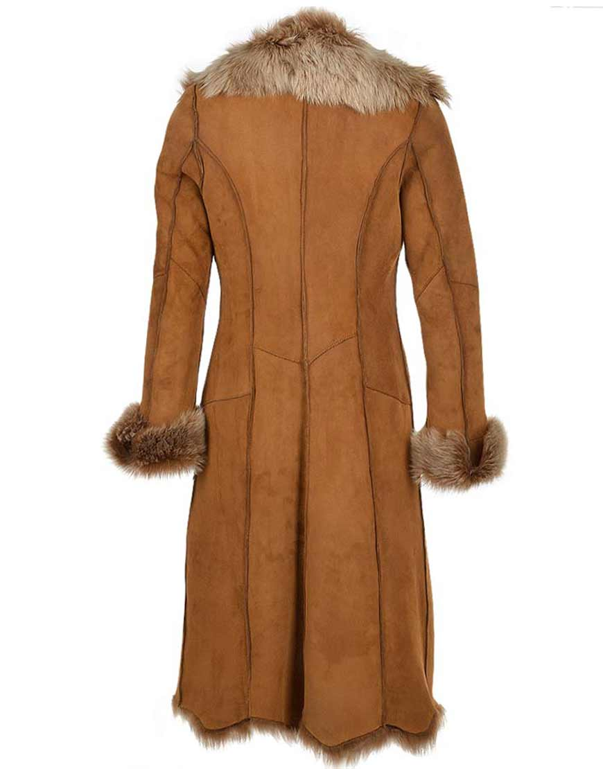 Womens-Novah-Brown-Fur-Long--Coat