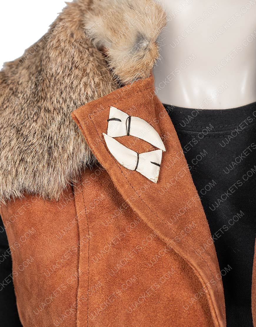 Zombies 2 Ariel Martin Brown Wynter Vest With Fur