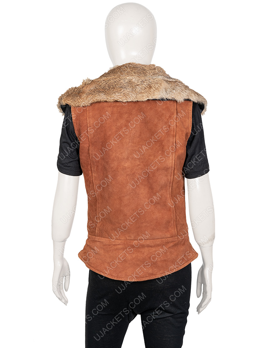 Zombies 2 Ariel Martin Leather Wynter Vest With Fur