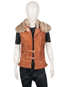 Zombies 2 Wynter Brown Vest With Fur