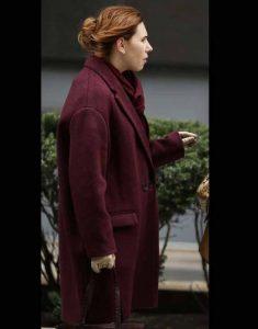 Zosia-Mamet-The-Flight-Attendant-Annie-Purple-Trench-Coat