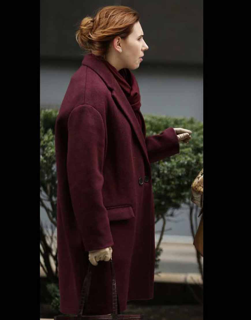 Zosia-Mamet-The-Flight-Attendant-Annie-Purple-Trench-Coat