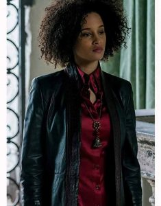 A-Discovery-of-Witches-Juliette-Durand-Black-Leather-Coat