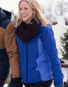 Amazing-Winter-Romance-Jessy-Schram-Blue-Hooded-Jacket