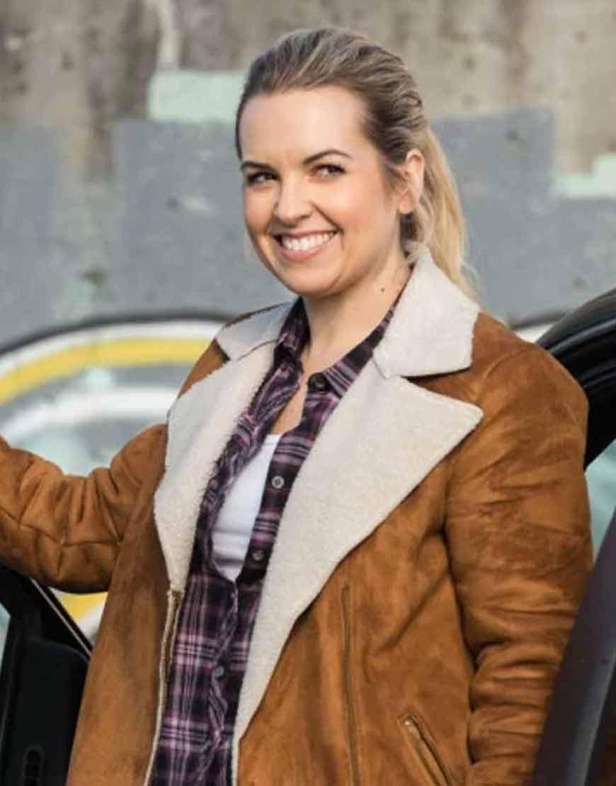 Briana-Buckmaster-Supernatural-Season-13-Donna-Hanscum-Shearling-Jacket