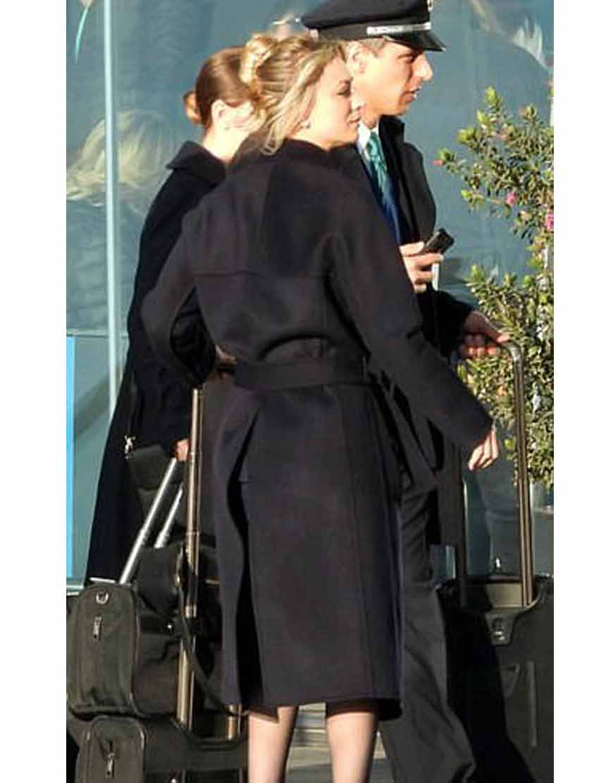 Cassie-BowdenThe-Flight-Attendant-Kaley-Cuoco-Black-Trench-Coat