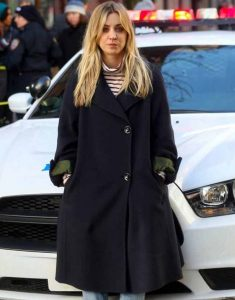 Cassie-The-Flight-Attendant-Kaley-Cuoco-Black-Coat