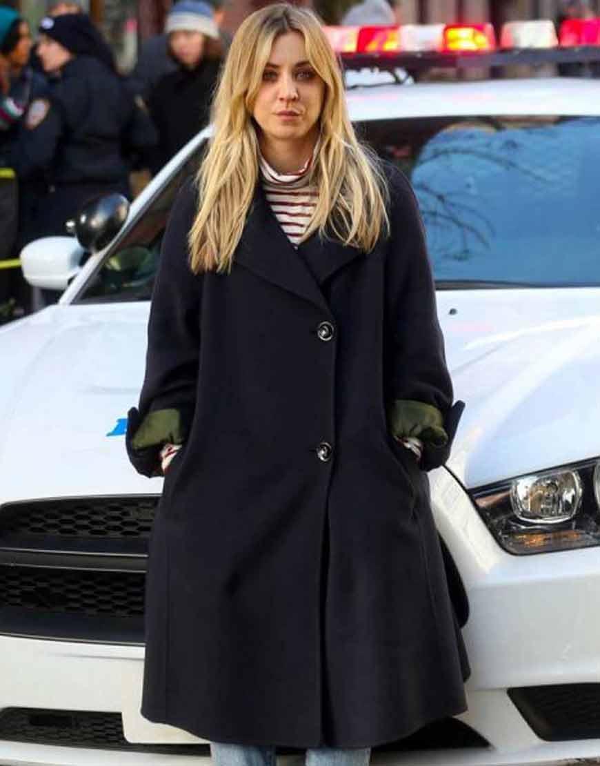 Cassie-The-Flight-Attendant-Kaley-Cuoco-Black-Coat