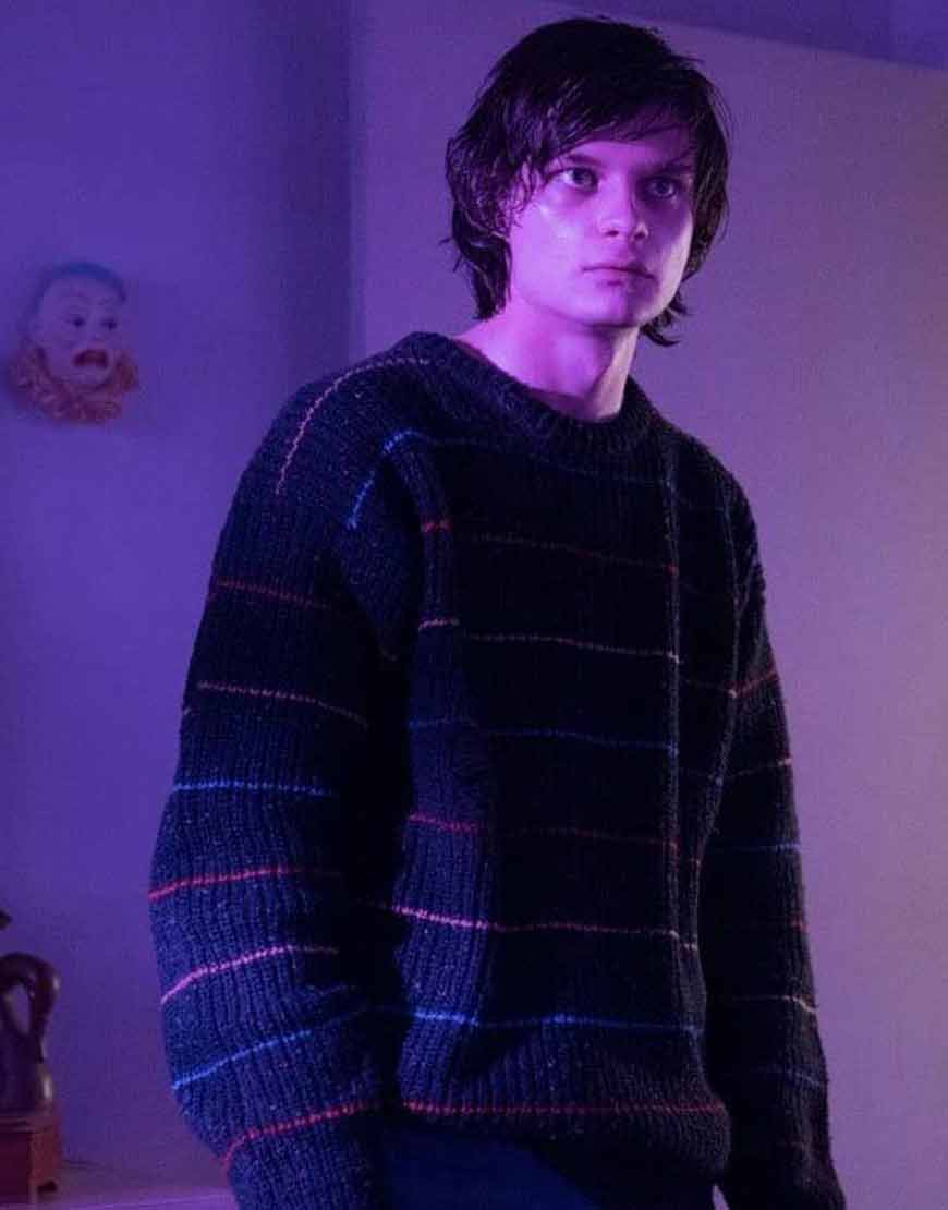 Charlie-Tahan-Monsterland-Nick-Smith-Striped-Sweater