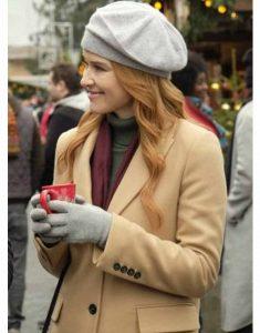 Christmas-in-Vienna-Sarah-Drew-Beige-Coat