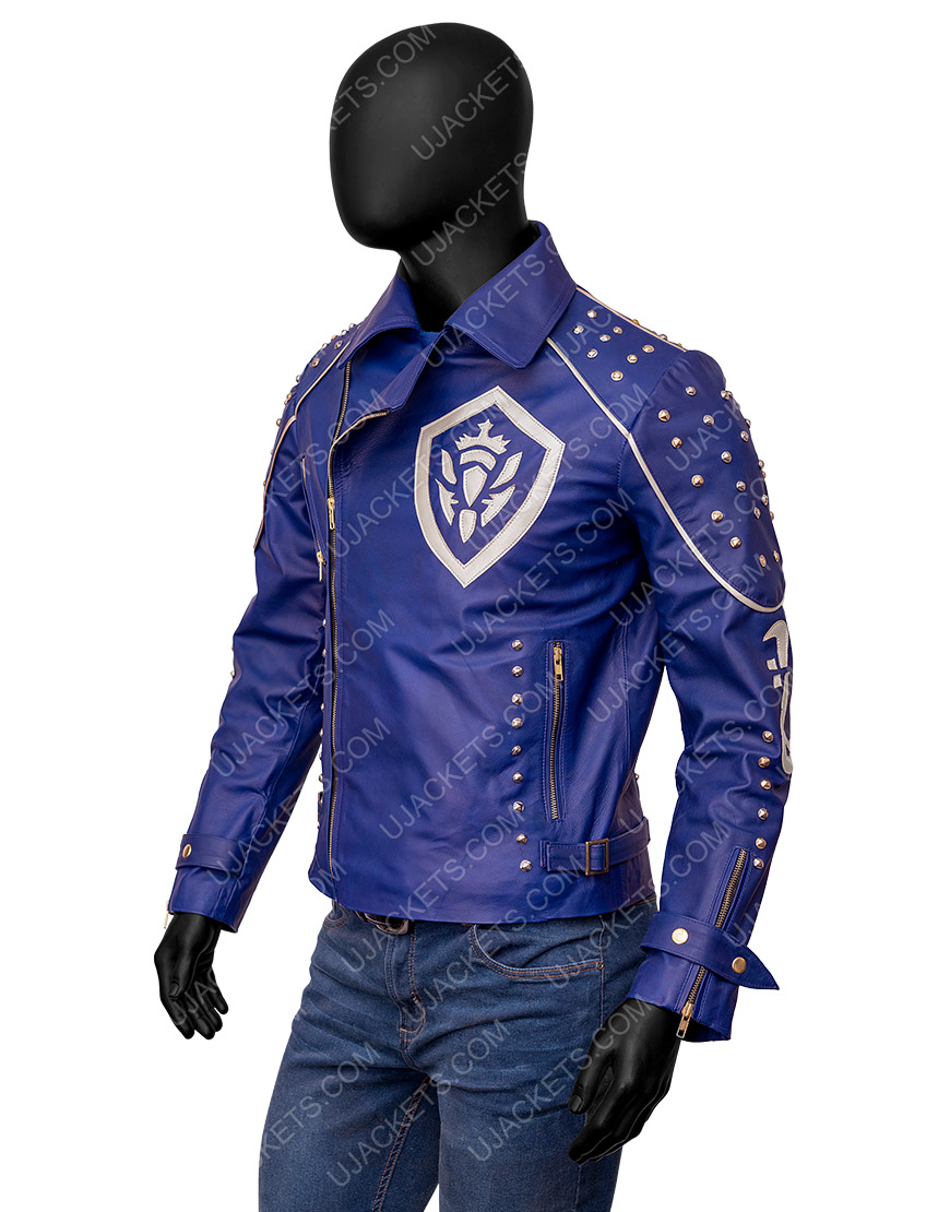 Descendants 2 King Ben Studded Purple Leather Jacket