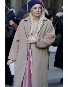 Drew-Barrymore-the-Stand-In-Brown-Trench-Coat