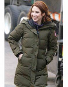 Ellie-Kemper-The-Stand-In--Puffer-Coat