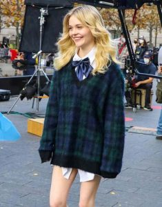 Emily-Alyn-Lind-Gossip-Girl-2021-Plaid-Sweater