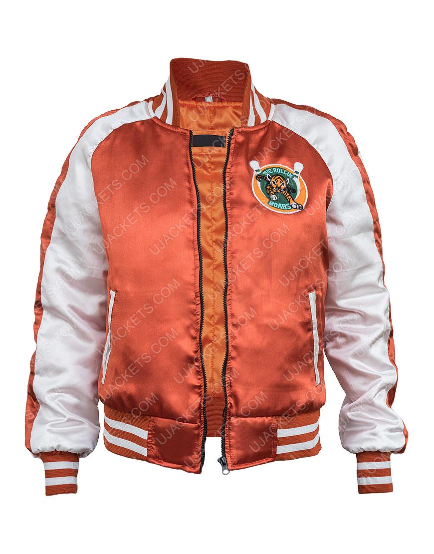 Eva Gunpowder Milkshake Karen Gillan Orange Jacket